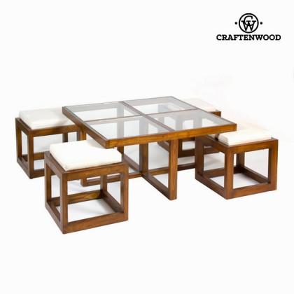 Masă de cafea cu 4 taburete - Serious Line Colectare by Craftenwood
