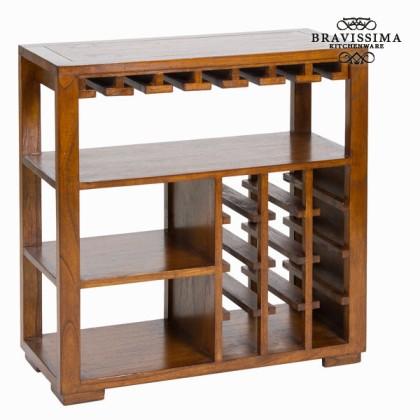 Suport de sticle cu rafturi din lemn - Serious Line Colectare by Bravissima Kitchen