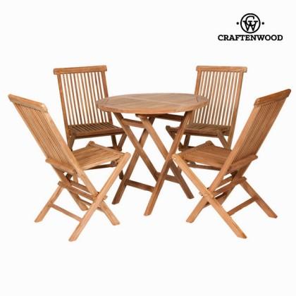 Set de masă cu 4 scaune  by Craftenwood