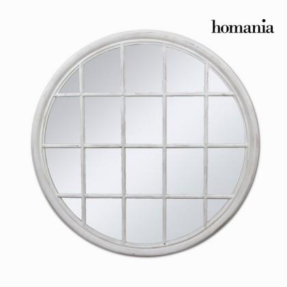 Oglindă rotundă albă spartă by Homania
