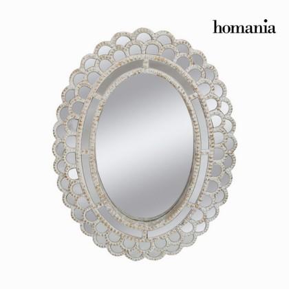 Oglindă ovală albă învechită by Homania