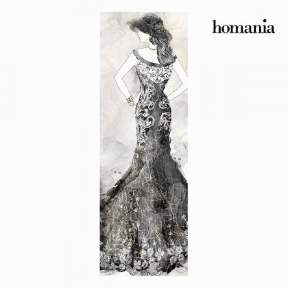 Tablou fată rochie neagră by Homania