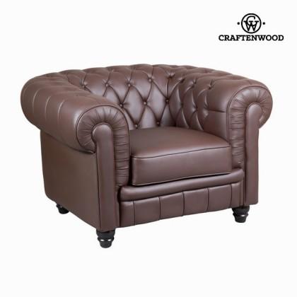 Canapea 1 loc tapisată maro by Craftenwood