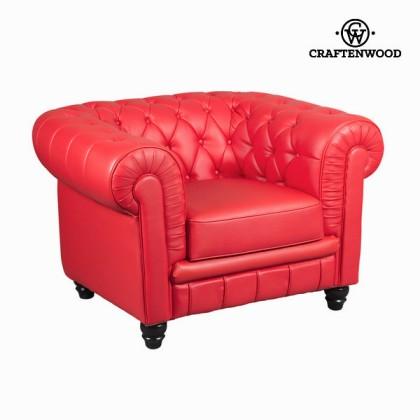 Canapea 1 plaza tapisată roșie by Craftenwood
