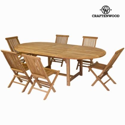 Masă extensibilă și 6 scaune by Craftenwood