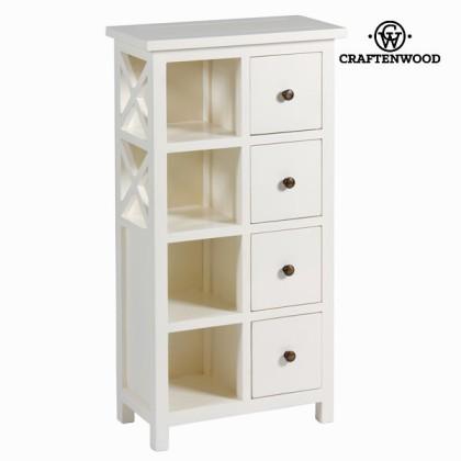 Piesă de mobilier albă cu 4 sertare - Franklin Colectare by Craftenwood