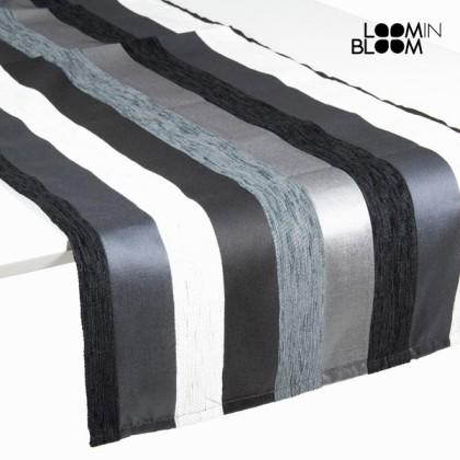 Traversă de masă motegi neagră - Colored Lines Colectare by Loom In Bloom