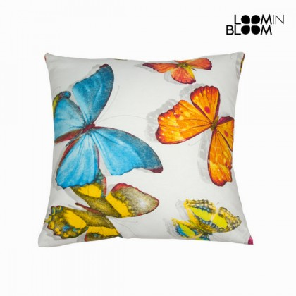 Pernă butterfly din pânză by Loom In Bloom