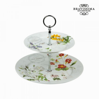 Suport de aperitive cu 2 farfurii naturalis - Kitchen's Deco Colectare by Bravissima Kitchen