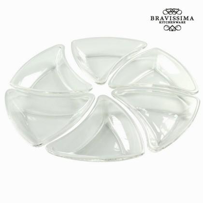 Set de 6 boluri din sticlă albe - Crystal Colours Kitchen Colectare by Bravissima Kitchen