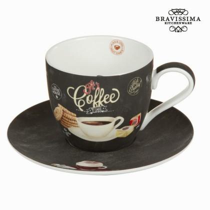 Ceașcă cu farfurie time - Kitchen's Deco Colectare by Bravissima Kitchen
