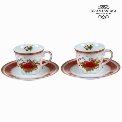 Set de 2 cești de cafea crăciun by Bravissima Kitchen