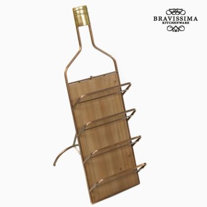 Suport sticle de vin de perete din metal by Bravissima Kitchen
