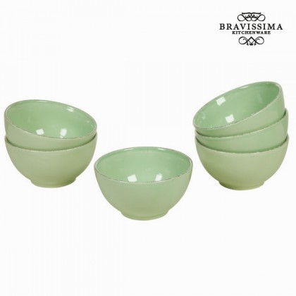 Castron set de 6 din ceramică verde - Kitchen's Deco Colectare by Bravissima Kitchen