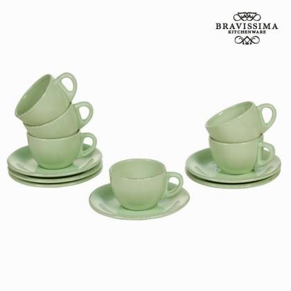 Set de 6 cești din ceramică verde - Kitchen's Deco Colectare by Bravissima Kitchen