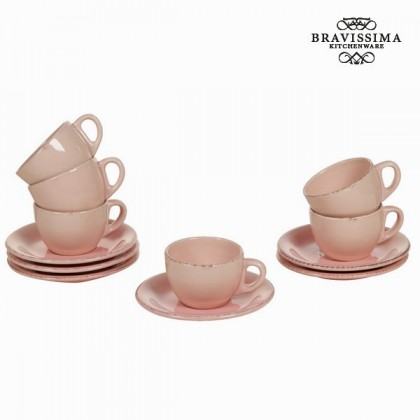 Set de 6 cești din ceramică roz - Kitchen's Deco Colectare by Bravissima Kitchen