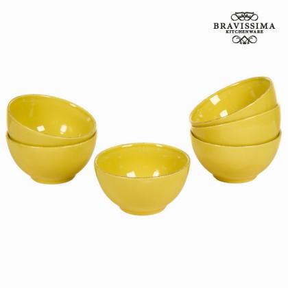 Castron set de 6 din ceramică muștar - Kitchen's Deco Colectare by Bravissima Kitchen