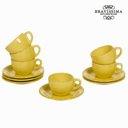 Set de 6 cești din ceramică muștar - Kitchen's Deco Colectare by Bravissima Kitchen