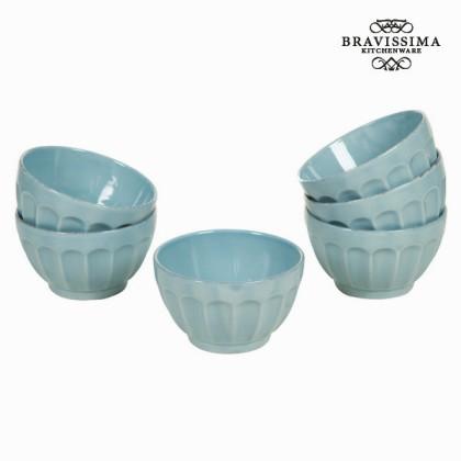 Castron set de 6 din ceramică albastru - Kitchen's Deco Colectare by Bravissima Kitchen