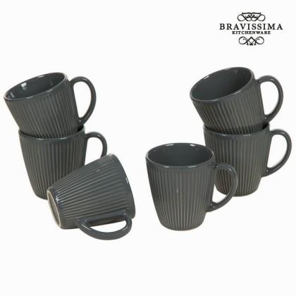 Carafă cu mâner set de 6 gri - Kitchen's Deco Colectare by Bravissima Kitchen