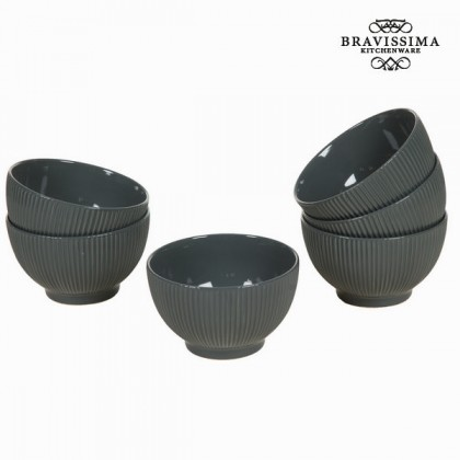 Castron set de 6 gri - Kitchen's Deco Colectare by Bravissima Kitchen