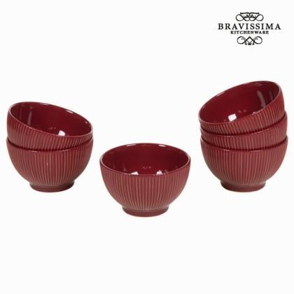 Castron set de 6 bordeaux - Kitchen's Deco Colectare by Bravissima Kitchen