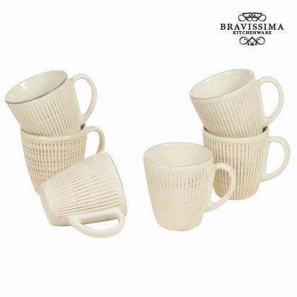 Carafă cu mâner set de 6 bej - Kitchen's Deco Colectare by Bravissima Kitchen