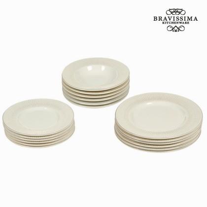Set de cină 18 piese bej - Kitchen's Deco Colectare by Bravissima Kitchen