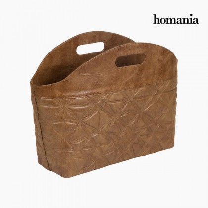Suport reviste gravat maro by Homania
