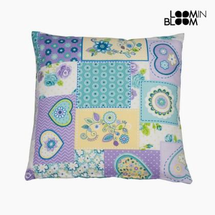 Pernă petic inimă violet by Loom In Bloom