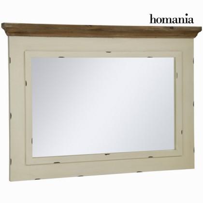 Oglindă lauren bej din lemn de tec - Winter Colectare by Homania