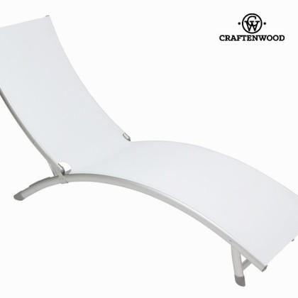 Șezlong din aluminiu alb by Craftenwood