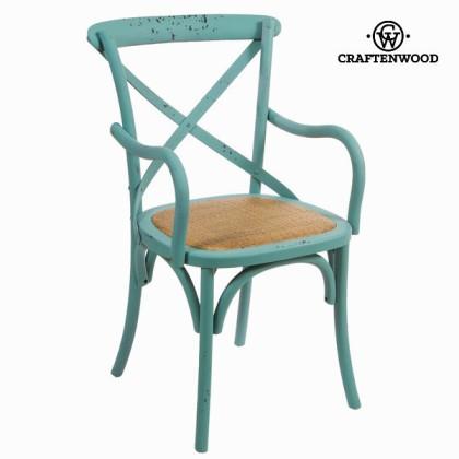 Scaun cu brațe din lemn albastru by Craftenwood