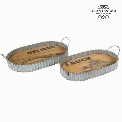 Set de două tavi - Art & Metal Colectare by Bravissima Kitchen