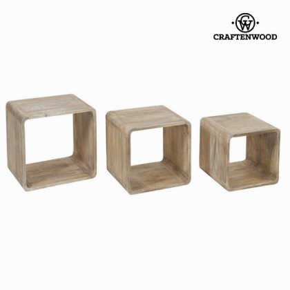 Set de 3 cuburi din lemn - Pure Life Colectare by Craftenwood