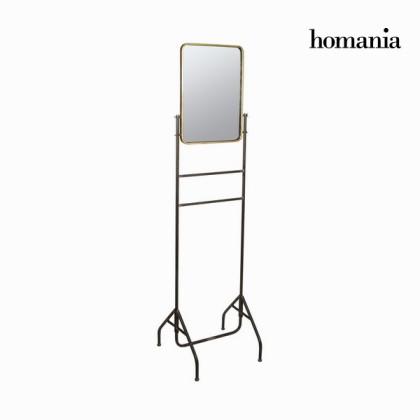 Oglindă din metal cu suport auriu by Homania