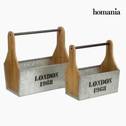 Set de două coșuri cu mâner by Homania