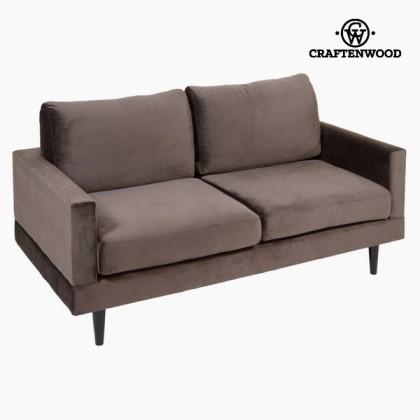 Canapea cu două locuri gri cos by Craftenwood