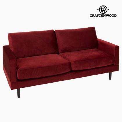 Canapea de două locuri vișinie cos by Craftenwood
