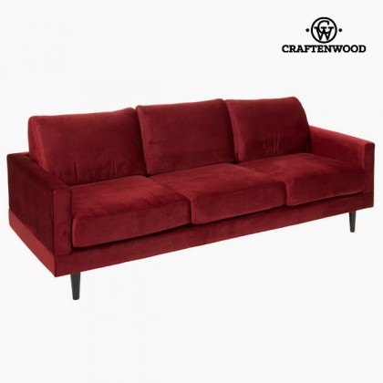 Canapea de trei locuri vișinie cos by Craftenwood