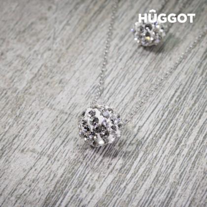 Pandantiv din Argint Sterling 925 cu Zirconii şi Lănţişor Dublu Balls Hûggot (40 y 45 cm)