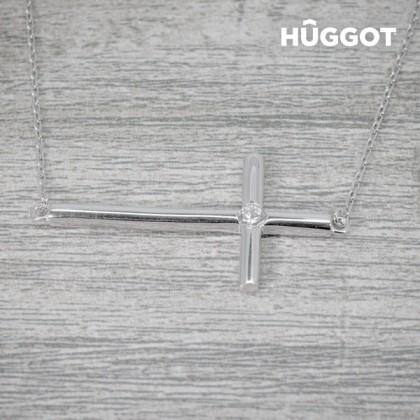 Pandantiv din Argint Sterling 925 cu Zirconii Cross Hûggot (45 cm)