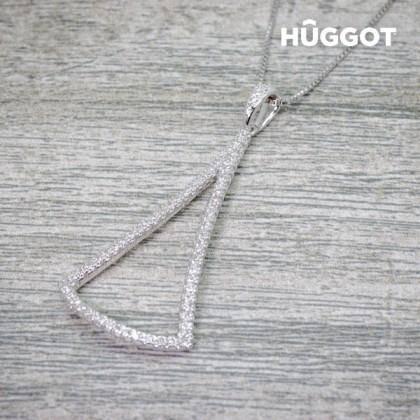 Pandantiv din Argint Sterling 925 cu Zirconii Diamond Hûggot (45 cm)