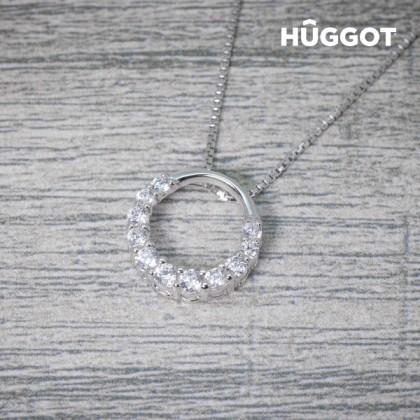 Pandantiv din Argint Sterling 925 cu Zirconii Gala Hûggot Creat cu Cristale Swarovski® (45 cm)