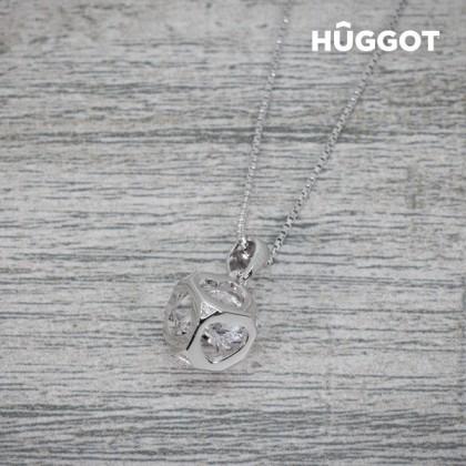 Pandantiv din Argint Sterling 925 cu Zirconii Cube Hûggot Creat cu Cristale Swarovski® (40 cm)