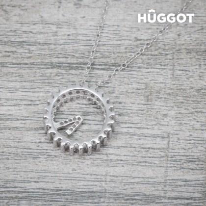 Pandantiv din Argint Sterling 925 cu Zirconii Only One Hûggot (45 cm)