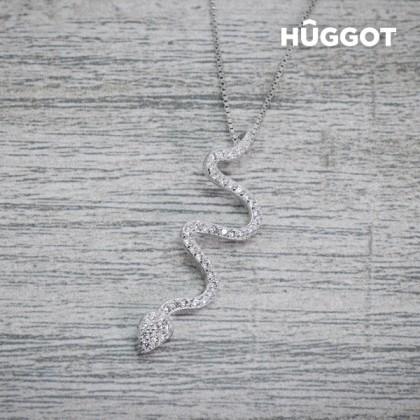 Pandantiv din Argint Sterling 925 cu Zirconii Snake Hûggot (45 cm)