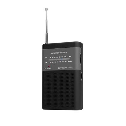 Brigmton BT-350-N Portabile Digitală Negru radiouri