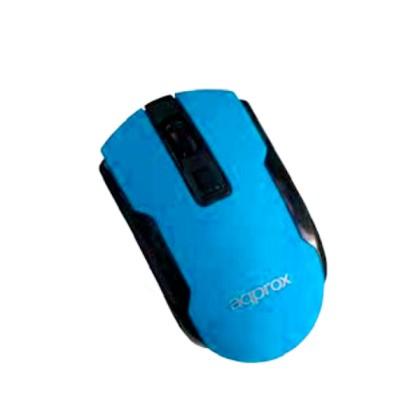 Approx Wireless Optical Mouse Light Blue RF fără fir Optice 1600DPI Albastru Ambidextru