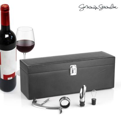 Set Cadou de Vin cu Accesorii Summum Sommelier (4 piese)